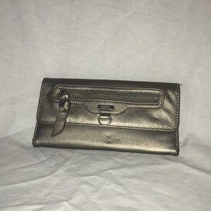 Silver metallic wallet